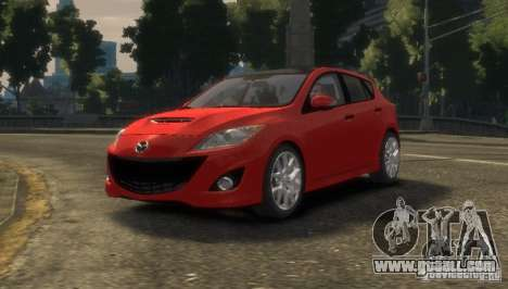 Mazda Speed 3 2010 for GTA 4 back left view