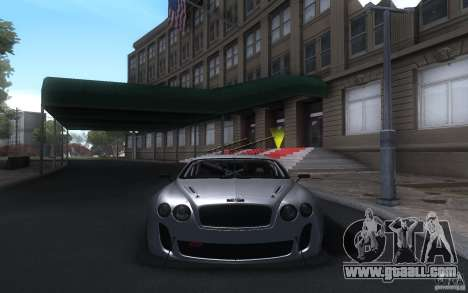Bentley Continental Super Sport Tuning for GTA San Andreas left view