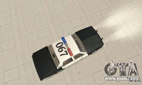 Chevrolet Caprice Interceptor 1986 Police for GTA San Andreas