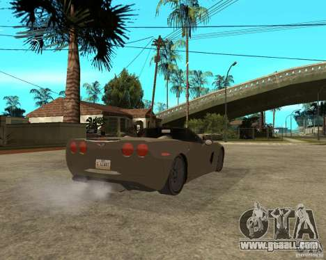 2005 Chevy Corvette C6 for GTA San Andreas back left view