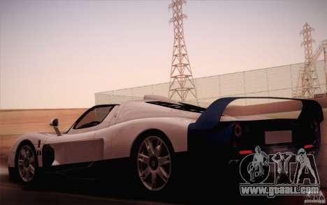 Maserati MC12 V1.0 for GTA San Andreas left view
