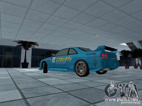 Nissan Skyline R 33 GT-R for GTA San Andreas left view