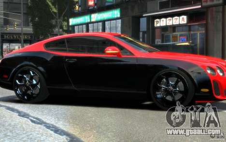 Bentley Continental SS MansorY for GTA 4 inner view