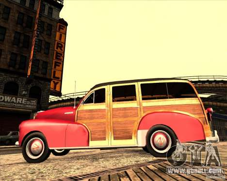 Chevrolet Fleetmaster 1948 for GTA San Andreas back view