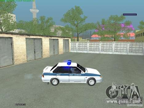 VAZ 2115 PPP Police for GTA San Andreas back left view