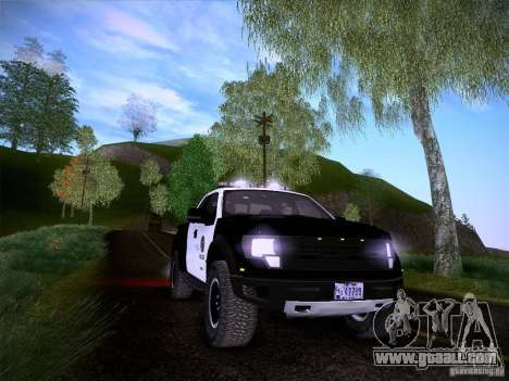 Ford Raptor Police for GTA San Andreas bottom view