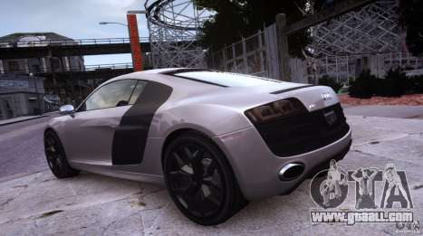 Audi R8 V10 for GTA 4 back view