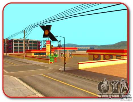 New Shell gas station for GTA San Andreas forth screenshot