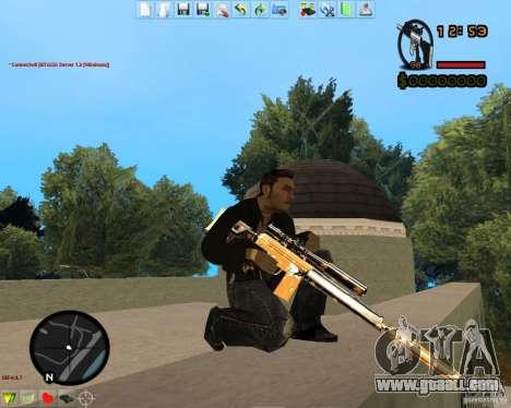 Smalls Chrome Gold Guns Pack for GTA San Andreas eighth screenshot