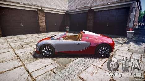 Bugatti Veyron Grand Sport [EPM] 2009 for GTA 4 back view