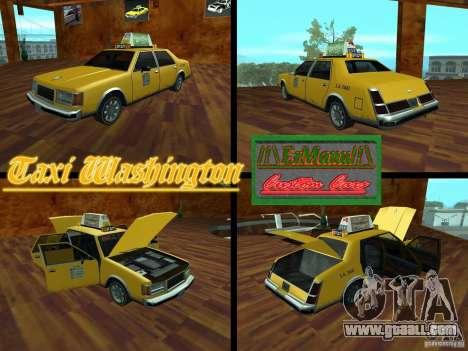 Taxi Washington for GTA San Andreas