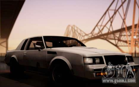 Buick GNX 1987 for GTA San Andreas back view