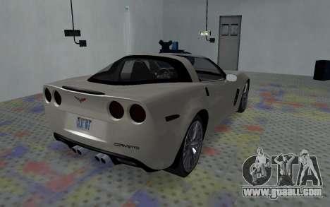Chevrolet Covette Z06 for GTA San Andreas back left view