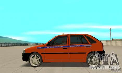 Volkswagen Gol G4 Taxi for GTA San Andreas left view