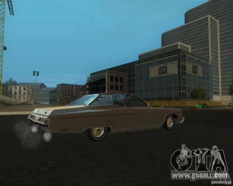 Chevrolet Caprice Classic lowrider for GTA San Andreas left view