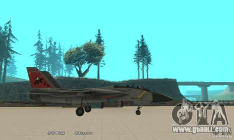 F14W Super Weirdest Tomcat Skin 2 for GTA San Andreas left view