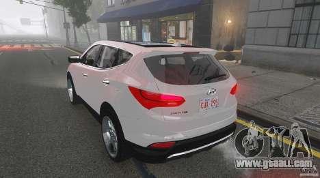 Hyundai Santa Fe Sport 2013 for GTA 4 upper view