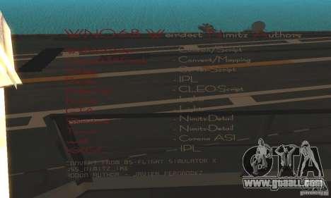 CVN-68 Nimitz for GTA San Andreas second screenshot