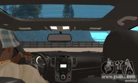 Kia Forte Koup 2010 for GTA San Andreas back view