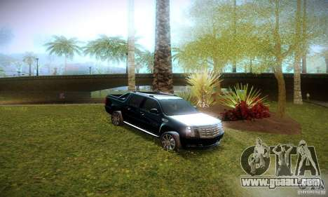 Cadillac Escalade Ext for GTA San Andreas inner view