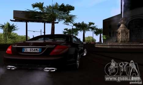 Mercedes-Benz CL65 AMG E.U. for GTA San Andreas back left view