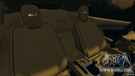 Chevrolet Camaro ZL1 2012 v1.0 Smoke Stripe for GTA 4 side view