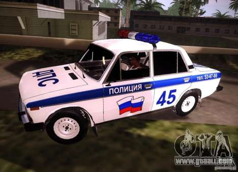 VAZ 2106 Police v 2.0 for GTA San Andreas left view