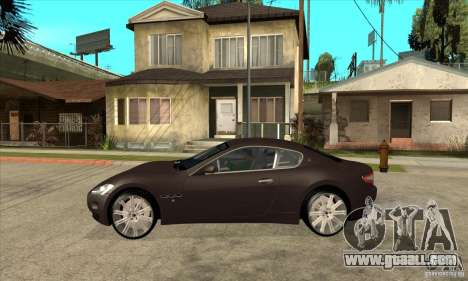 Maserati Gran Turismo for GTA San Andreas left view