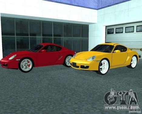 Porsche Cayman S for GTA San Andreas back left view