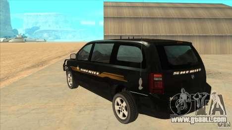 Dodge Caravan Sheriff 2008 for GTA San Andreas back left view