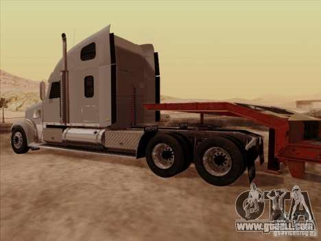 Freightliner Coronado for GTA San Andreas back view