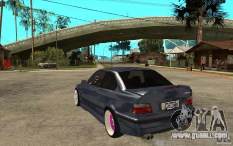 BMW E36 M3 Street Drift Edition for GTA San Andreas back left view