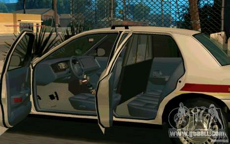 Ford Crown Victoria South Dakota Police for GTA San Andreas back view