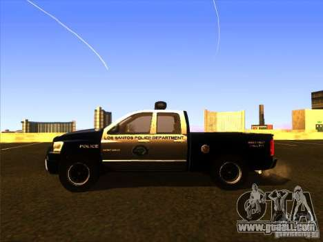 Dodge Ram 1500 Police for GTA San Andreas back left view