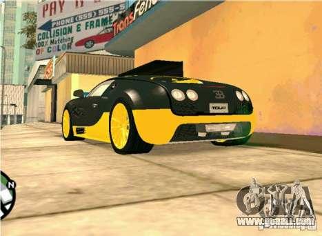 Bugatti Veyron Super Sport final for GTA San Andreas right view
