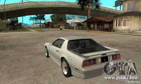 Pontiac Trans AM 1987 for GTA San Andreas back left view