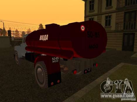 GAZ 53 water carrier for GTA San Andreas back left view