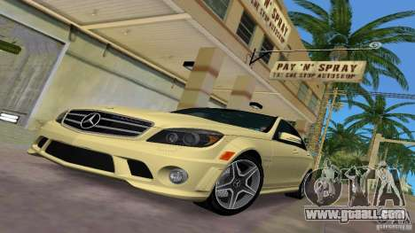 Mercedes-Benz C63 AMG 2010 for GTA Vice City side view