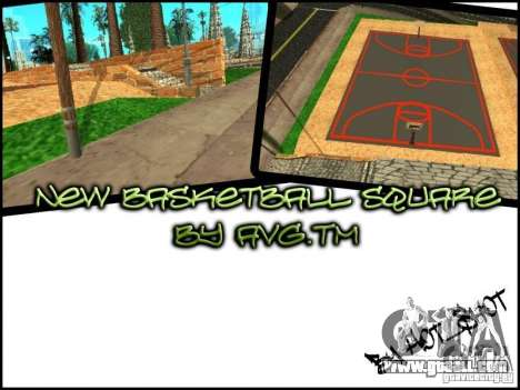 The new basketball court for GTA San Andreas