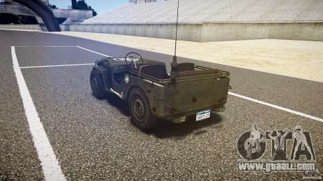 Walter Military (Willys MB 44) v1.0 for GTA 4 back left view