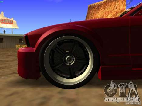 Ford Mustang GT 2005 Tuned for GTA San Andreas back view