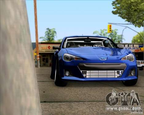 Subaru BRZ Stance for GTA San Andreas right view