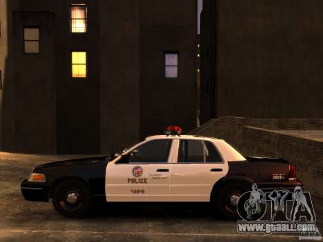Ford Crown Victoria LAPD v1.1 [ELS] for GTA 4 right view