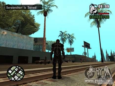 Crysis Nano Suit for GTA San Andreas fifth screenshot