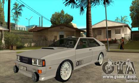 Audi Quattro for GTA San Andreas back left view