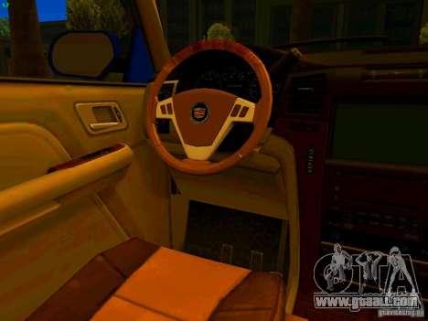 Cadillac Escalade for GTA San Andreas bottom view