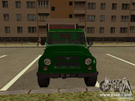UAZ 469 Military for GTA San Andreas right view