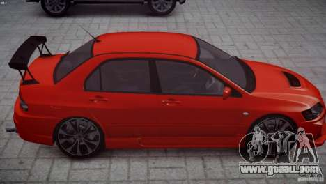 Mitsubishi Lancer Evolution 8 v2.0 for GTA 4 back view