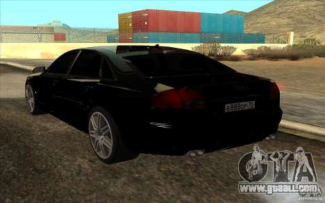Audi A8l W12 6.0 for GTA San Andreas left view