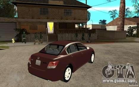 Honda Accord 2009 for GTA San Andreas right view